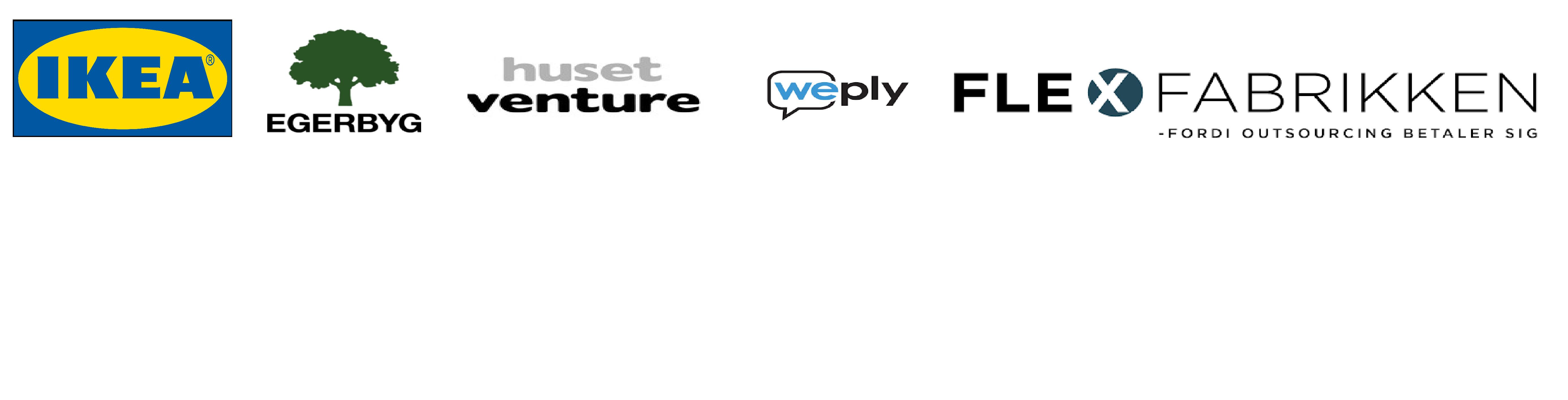 Banner med virksomhedsnavne